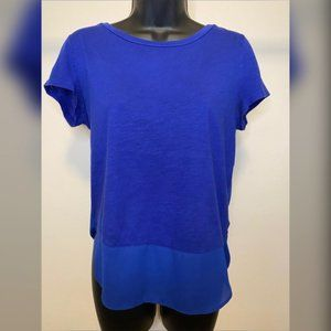 XS Blue Express Short Sleeve Shirt - #F17
